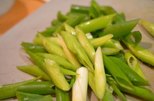 enoki spinach - scallions