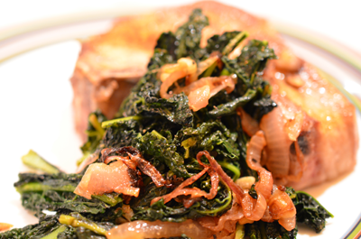 kale - serve w pork chop