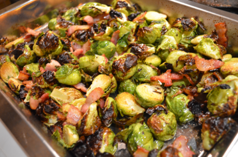brussels sprouts - out of oven