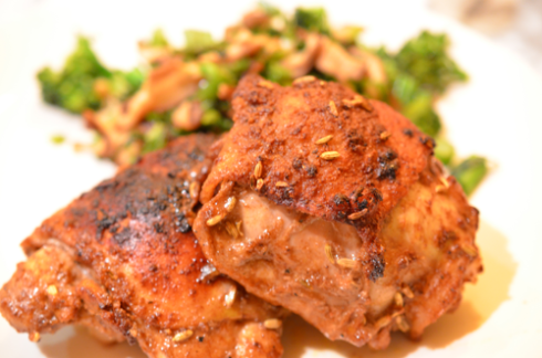 spiced chicken - plated
