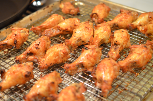 chicken wings - out of oven