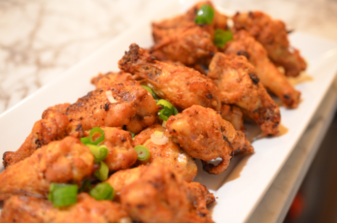 chicken wings - plated