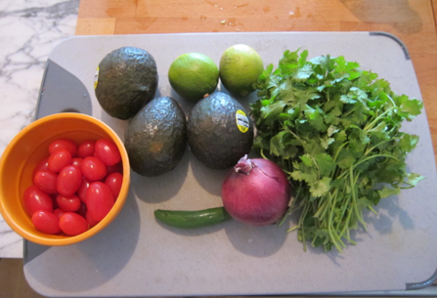 guacamole - ingredients