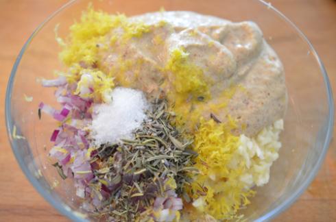 mustard lamb - marinade