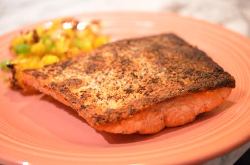 sockeye salmon - plated