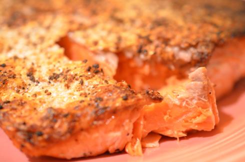 sockeye salmon - upclose