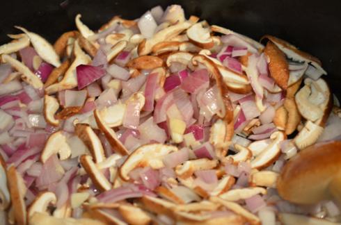 turkey chili - add shiitake