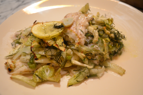 fennel sole - plated
