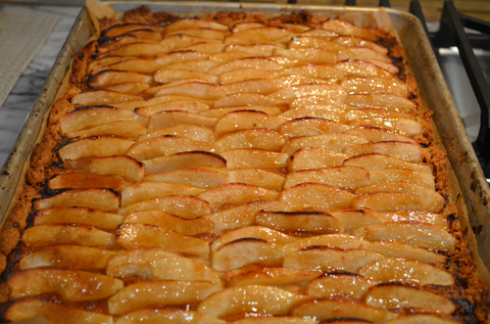 pear tart - glazed tart