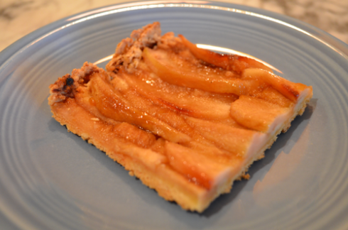 pear tart - slice