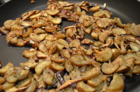 Radicchio+eggplant - let eggplants cook