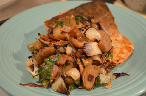 Radicchio+eggplant - plated