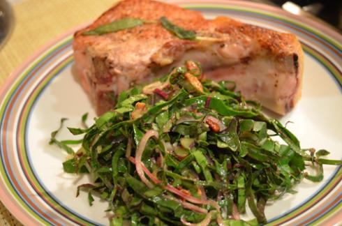 kale salad - plated