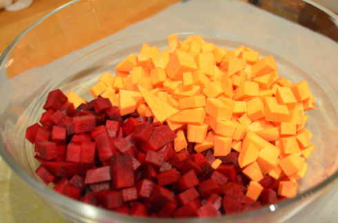 beets potato - chopped