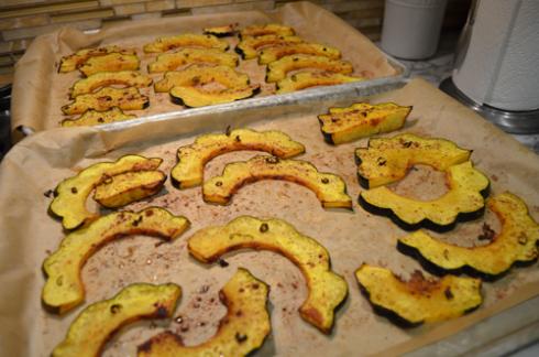 acorn  squash - roasted