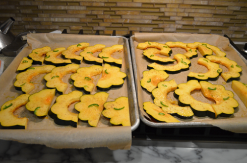 acorn  squash - seasoned