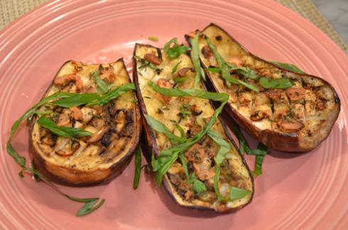 eggplant - plated